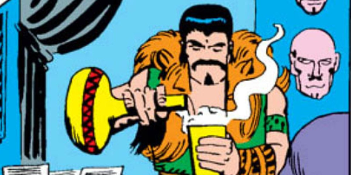 Kraven the Hunter drinks a magical potion