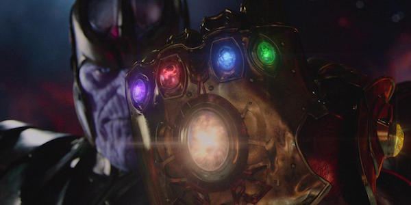 Thanos wearing the Infinity Gauntlet