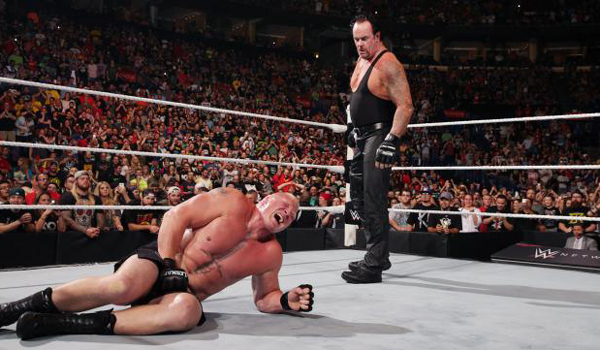 Brock Lesnar and the Undertaker