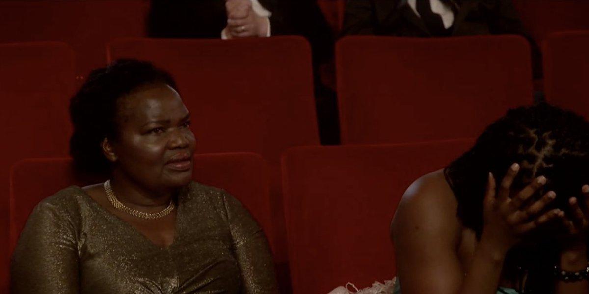 Daniel Kaluuya's mom and sister during 2021 Oscars