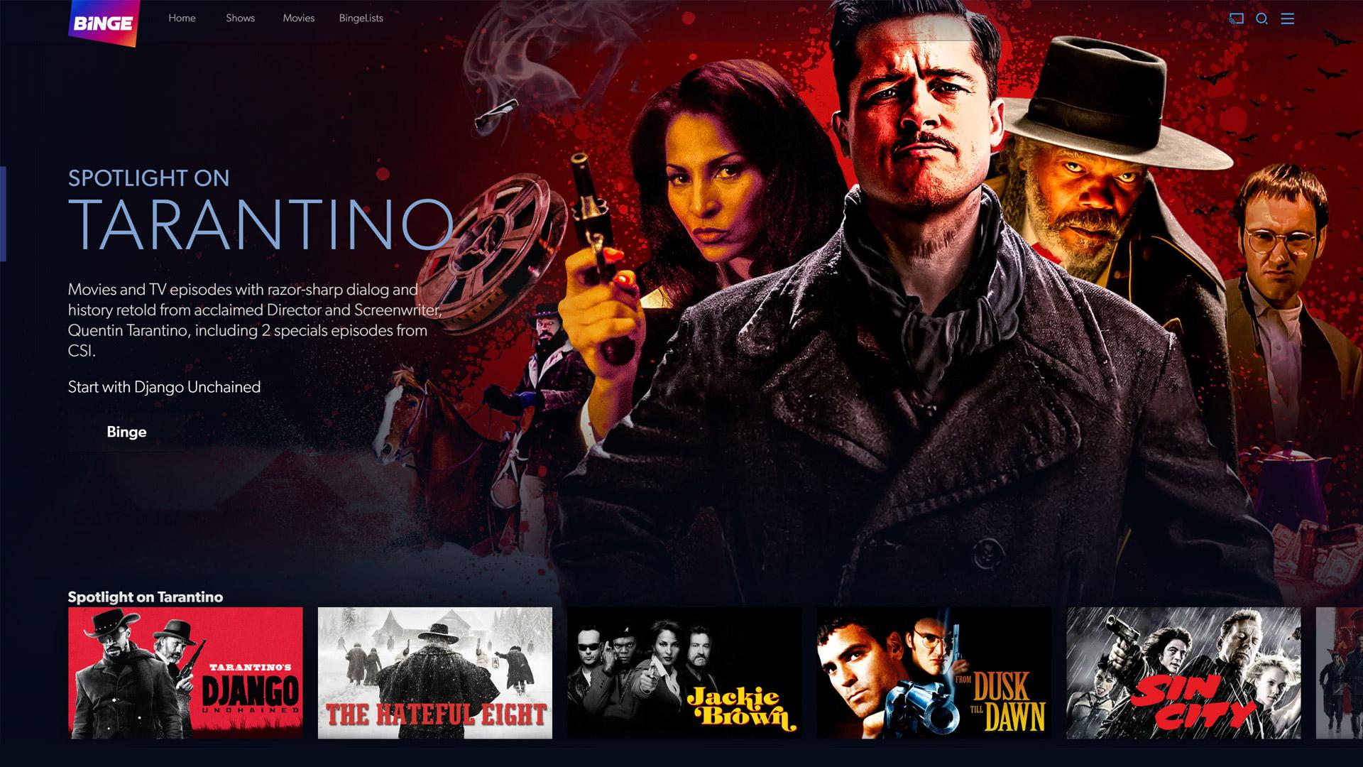 Tarantino on Binge
