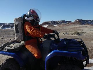 Commander Paula Crock Rides ATV