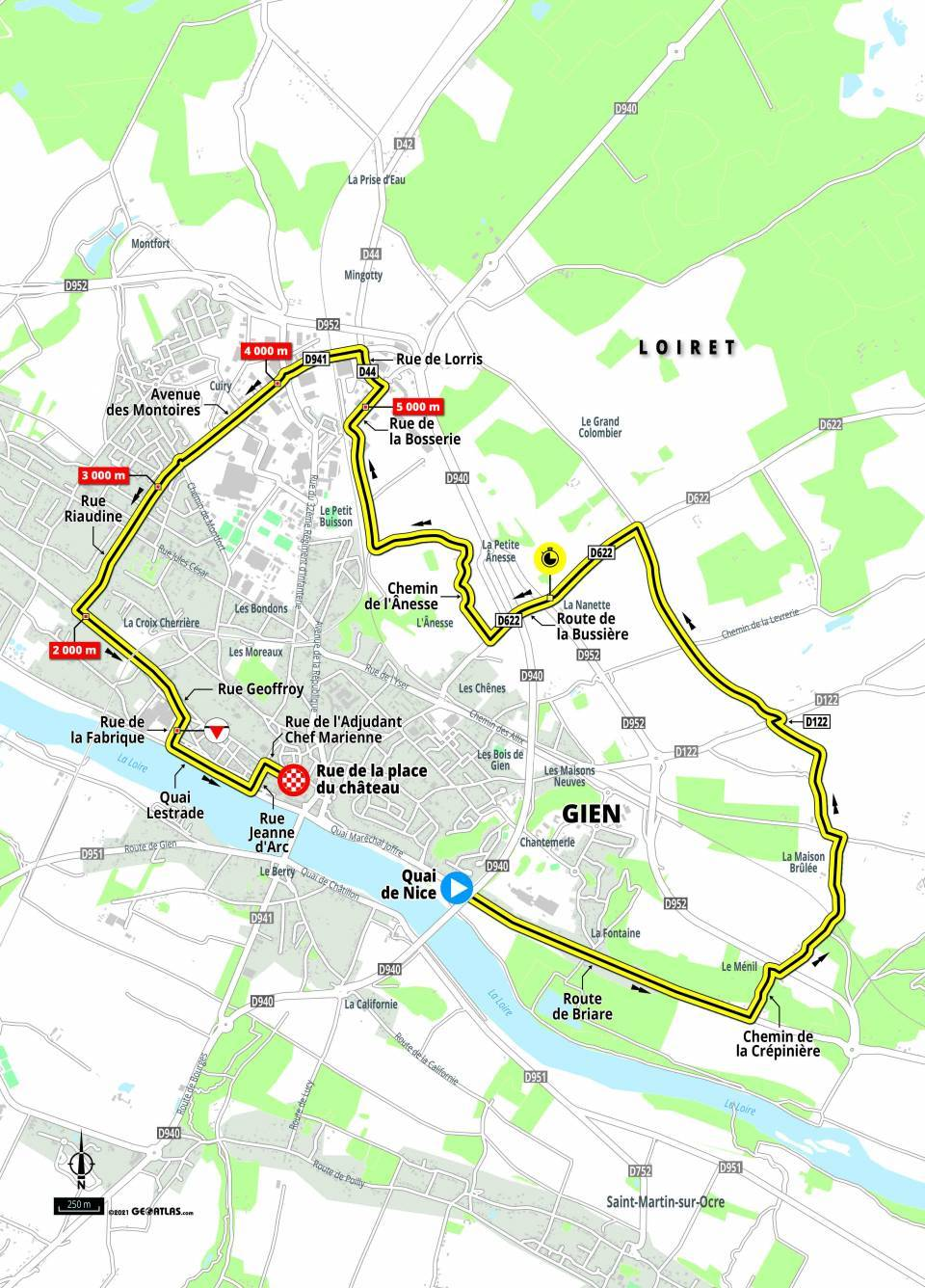 paris nice 2021 stage 3 map