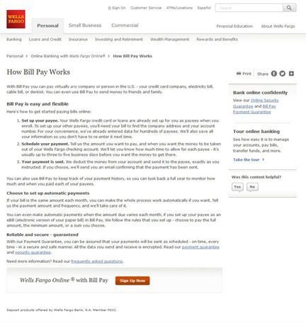 Wells Fargo Bill Paying Service Review - Pros and Cons | Top Ten Reviews
