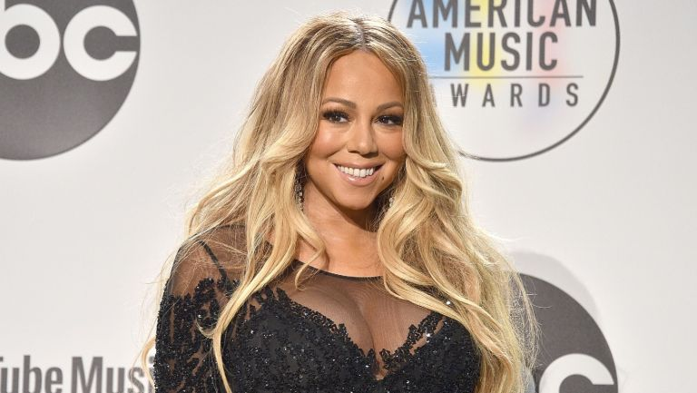 Mariah Carey attends the 2018 American Music Awards - Press Room at Microsoft Theater on October 9, 2018 in Los Angeles, California.