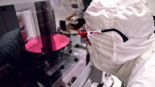 Intel manufacturing wafer