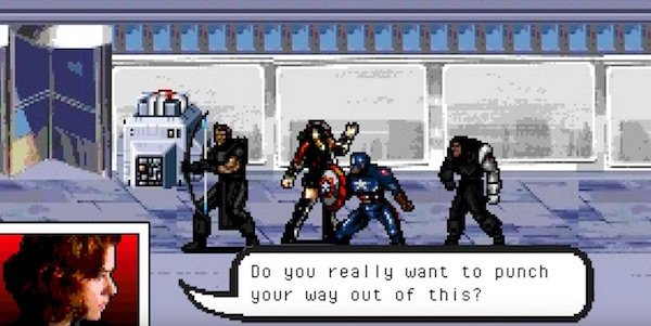 Watch Captain America: Civil War As An Old School Video Game