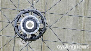 Image of a road bike hub