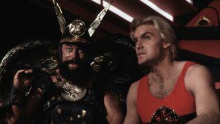 Brian Blessed and Sam J Jones in Flash Gordon.