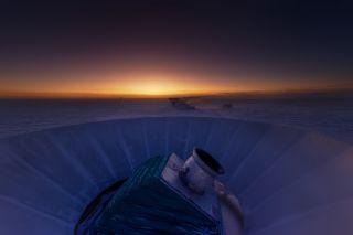 BICEP2 Telescope at Twilight