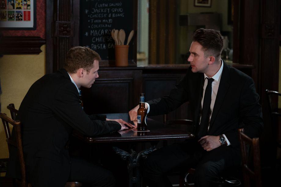 EastEnders Jay tries to comfort Callum in Eastenders