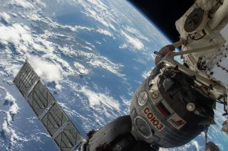 Soyuz TMA-17M Spacecraft Docked to the ISS