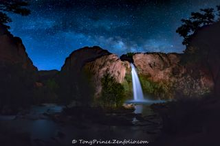 Milky Way from Havasu Falls