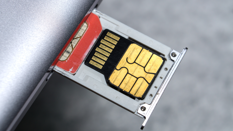 SIM card in phone
