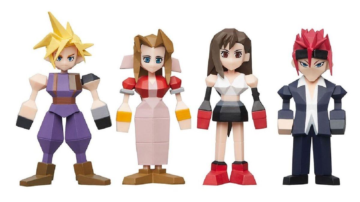 Square Enix Final Fantasy VII Polygon Complete Common Mini Figure Set of 7