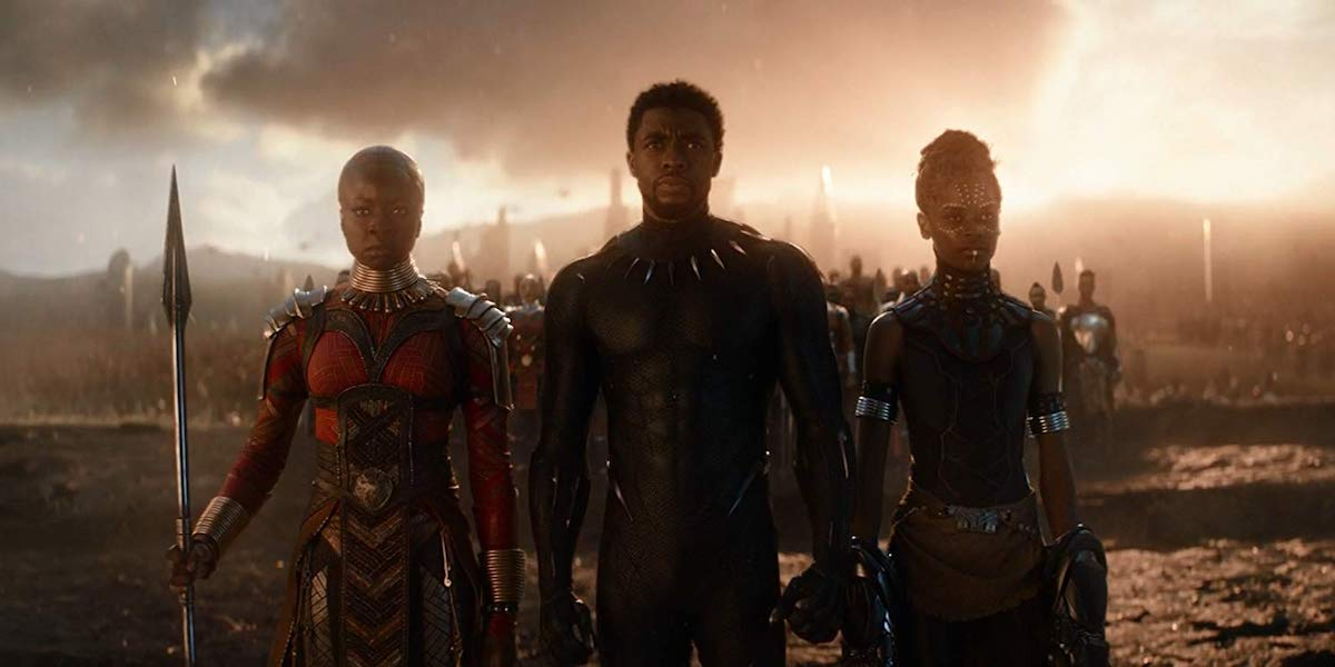 Okoye, Black Panther and Shuri in avengers: endgame