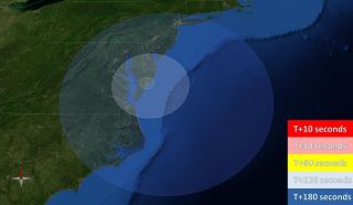 Visibility Map of Antares Launch