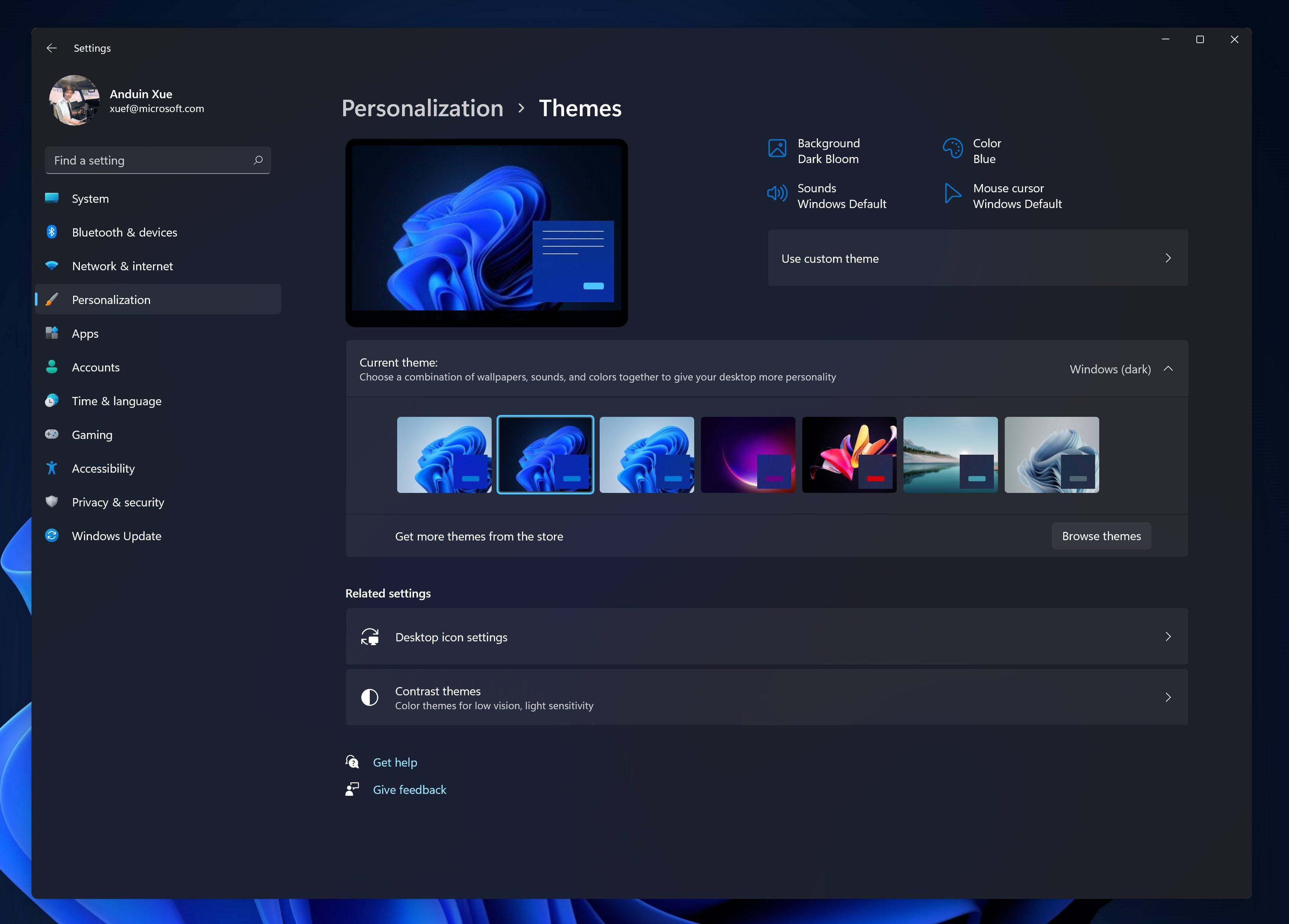 A Screenshot Of The Windows 11 OS In Dark Mode