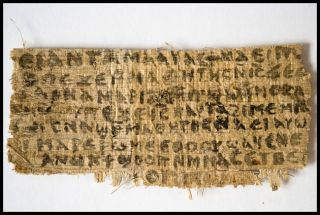 A newly discovered scrap of 4th-century papyrus written in ancient Egyptian Coptic containing four words that provide the first tangible evidence that within centuries of his death, some followers of Jesus believed him to have been married.