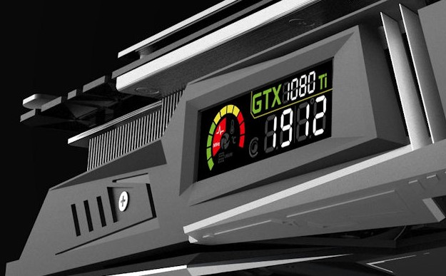 This GTX 1080 Ti has a built-in LCD display | PC Gamer