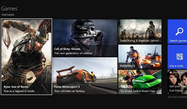 The Xbox One Games Marketplace