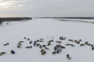 "The national holiday ""Reindeer Herder's Day"" being celebrated on the Yamal Peninsula in Siberia in February 2016."