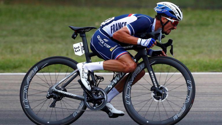 ulian Alaphilippe of France / Autodromo Enzo e Dino Ferrari / during the 93rd UCI Road World Championships 2020