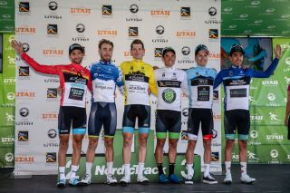 The final winners of the leaders' jerseys at the 2019 Tour of Utah