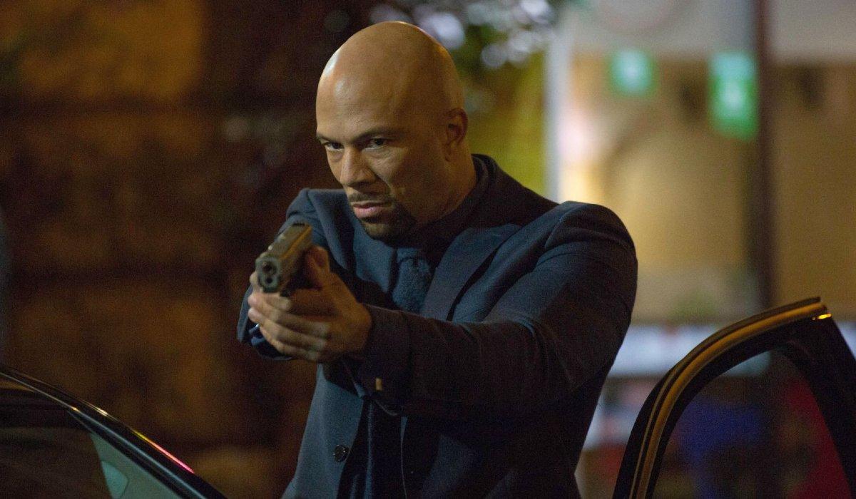 John Wick: Chapter 2 Cassian aiming his gun