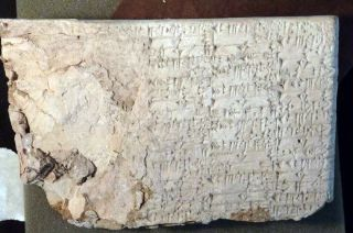 A cuneiform tablet seized by U.S. Immigration and Customs Enforcement (ICE) from Hobby Lobby.