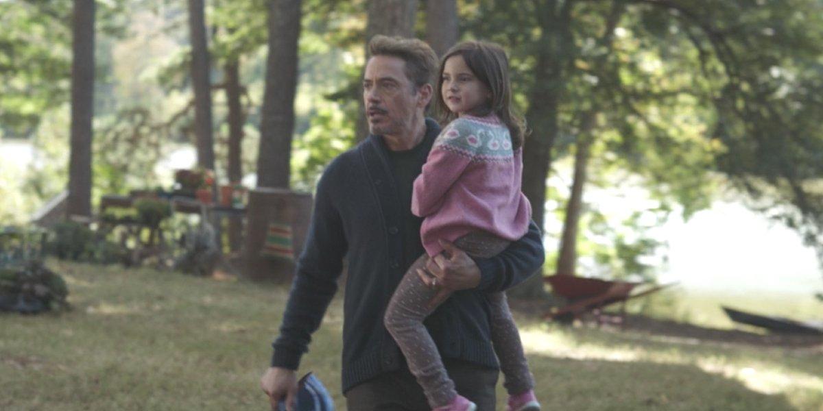 Robert Downey Jr. and  Lexi Rabe in Avengers: Endgame