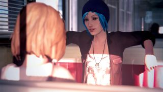 Life is Strange's Chloe and Max relax in a diner