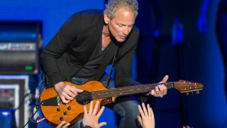 Lindsey Buckingham of Fleetwood Mac performs at Genting Arena on June 8, 2015 in Birmingham, United Kingdom