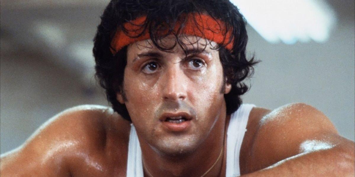 Rocky Balboa (Sylvester Stallone) catches his breath in Rocky (1976)