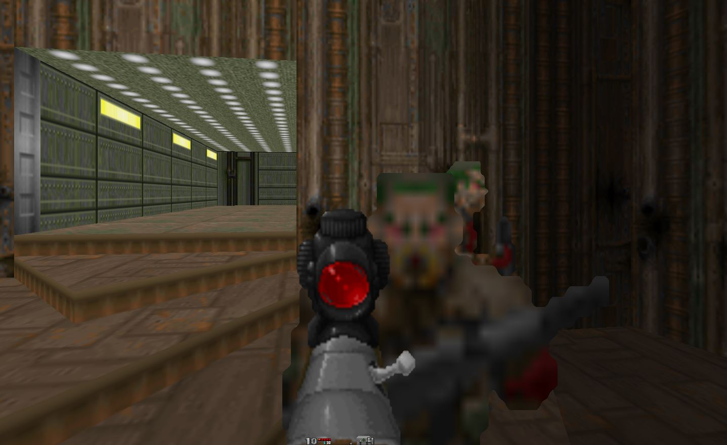 In hyperrealistic Doom mod Hideous Destructor, you have to