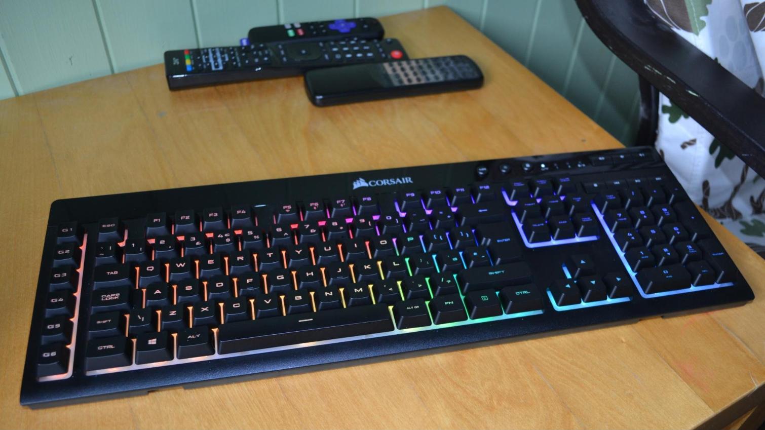 Corsair K57 Rgb Wireless Gaming Keyboard Review Premium Membrane Tom S Hardware Tom S Hardware