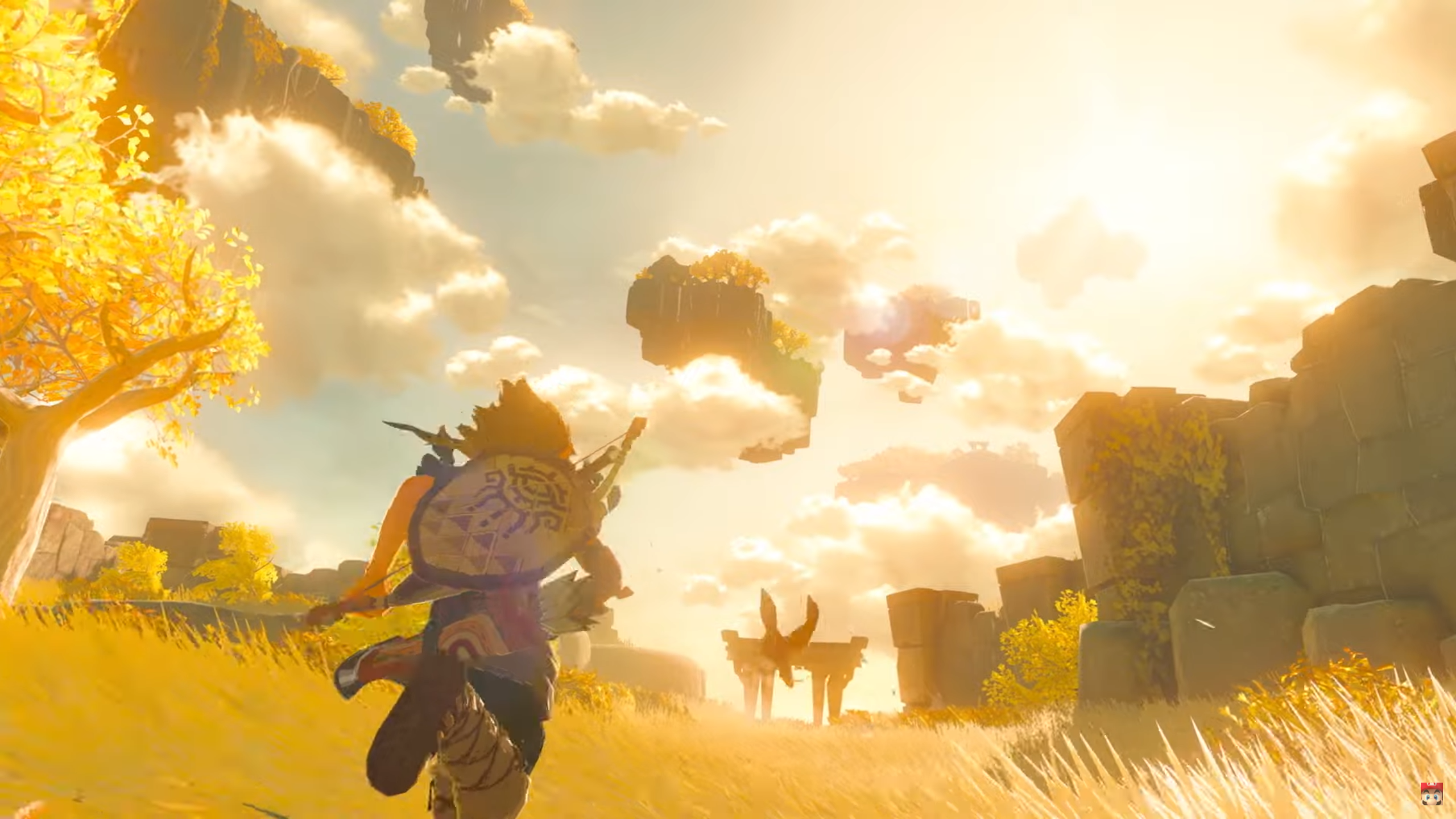 Breath of the Wild 2 running across the fields