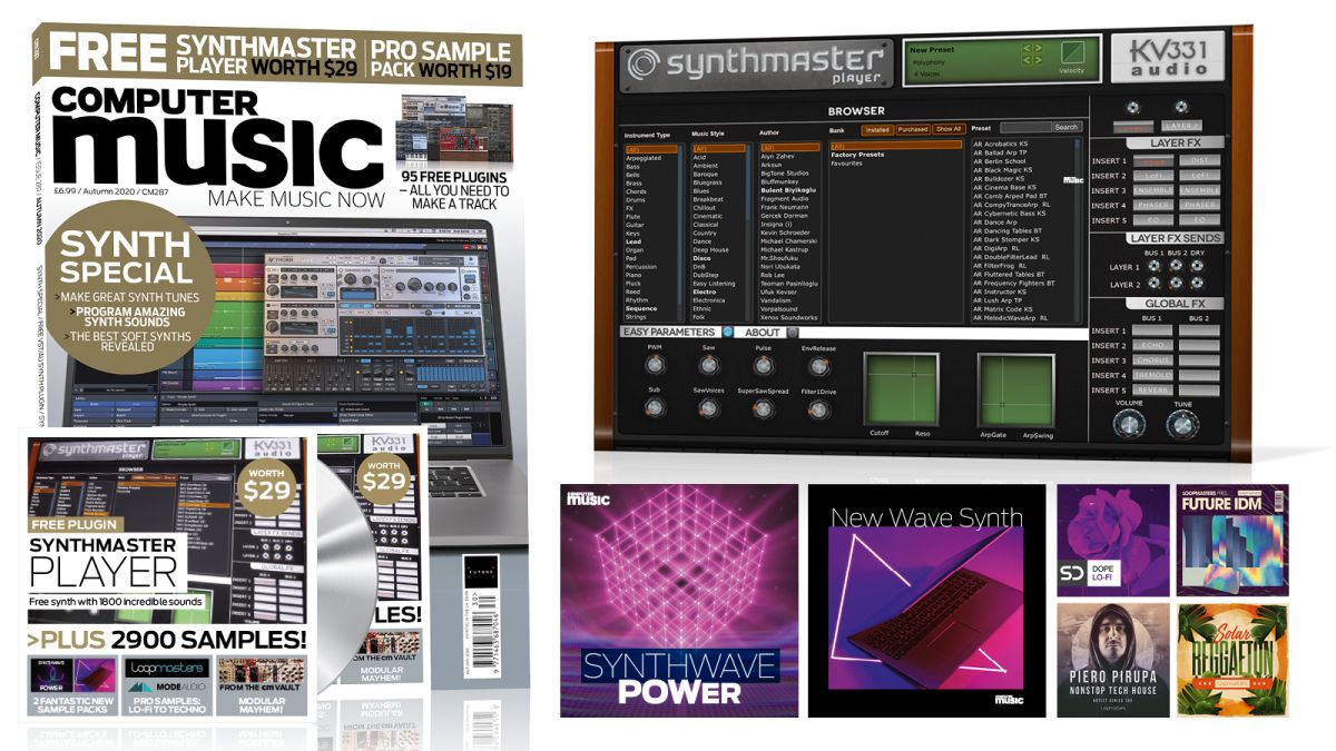 It's the Computer Music Synth Special! Free SynthMaster plugin synth and EDM sample pack