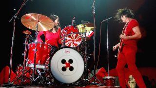 Musicians Meg White and Jack White of the White Stripes