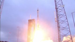 An Orbital ATK Cygnus spacecraft launches into orbit atop an Atlas V rocket on Sunday, Dec. 6, 2015 to deliver more than 3 tons of supplies to the International Space Station. The mission launched from Cape Canaveral Air Force Station in Florida.