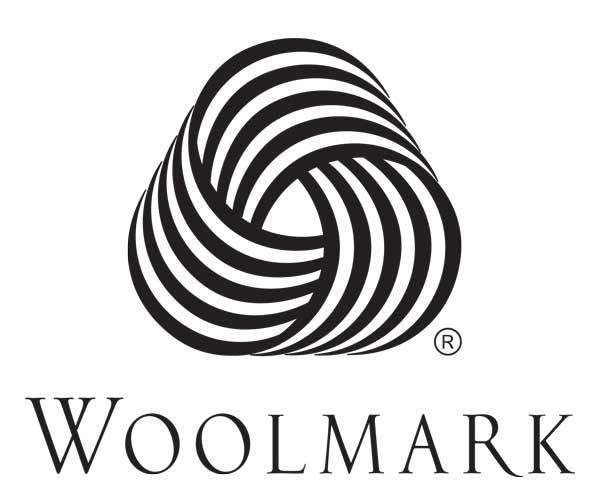 Woolmark logo on a white background