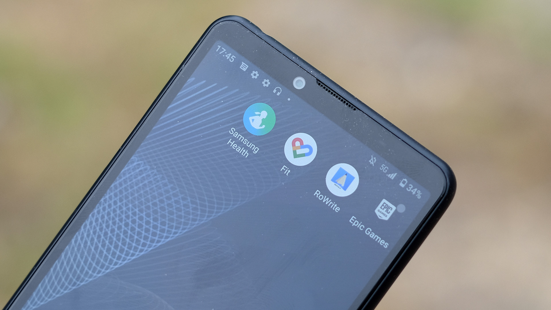 A close view of the Xperia 10 III's screen and speaker