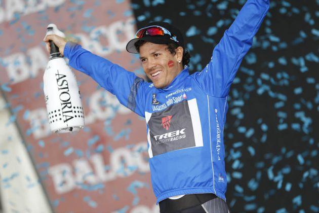Julian Arredondo on stage twenty-one of the 2014 Giro d'Italia