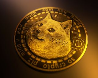 Dogecoin stock image