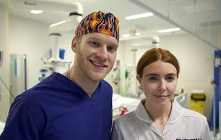 Celebrities on the NHS Frontline shows Jonnie Peakcock and Stacey Dooley