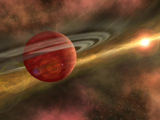 Newly Formed Planet in Protoplanetary Disk