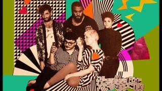 Moulettes group shot against pop art background