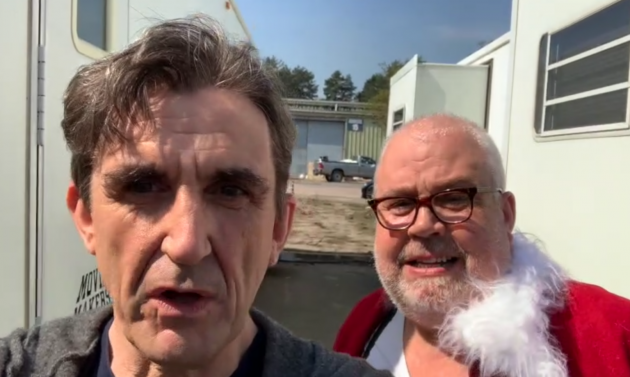 Call the Midwife 2021 Christmas special behind the scenes shot
