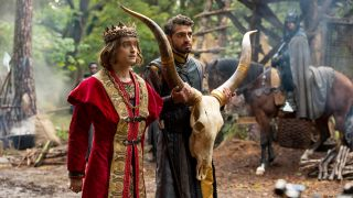 Daniel Radcliffe as Prince Chauncley and Karan Soni as Lord Vexler in season two of TBS's 'Miracle Workers'