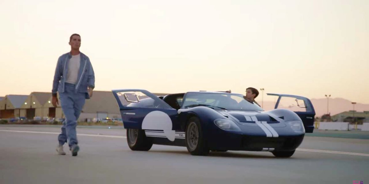 Christian Bale and Noah Jupe in Ford v Ferrari